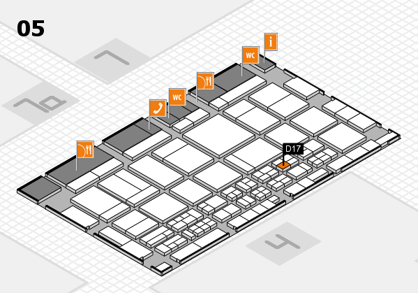 CARAVAN SALON 2017 hall map (Hall 5): stand D17