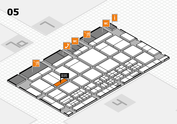 CARAVAN SALON 2017 hall map (Hall 5): stand B35