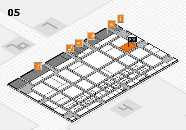 CARAVAN SALON 2017 hall map (Hall 5): stand B03