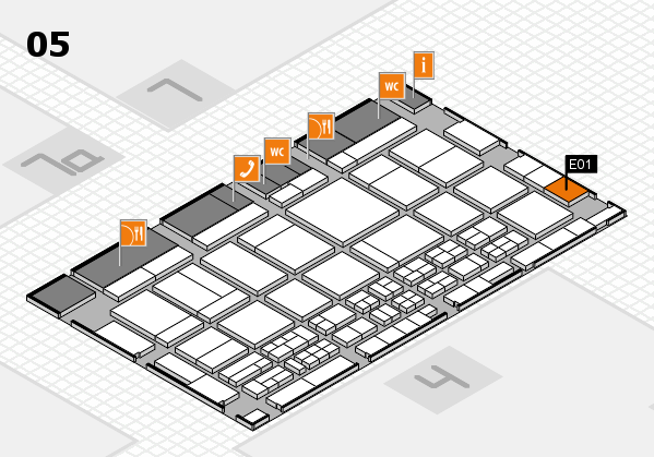 CARAVAN SALON 2017 hall map (Hall 5): stand E01
