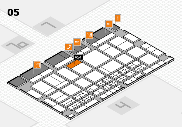 CARAVAN SALON 2017 hall map (Hall 5): stand A24