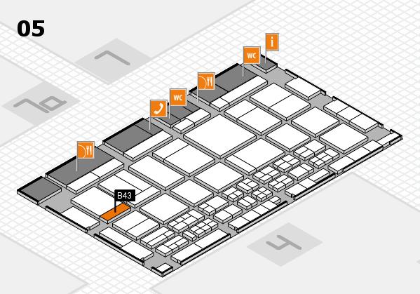 CARAVAN SALON 2017 hall map (Hall 5): stand B43