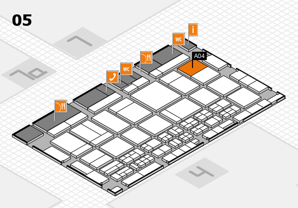 CARAVAN SALON 2017 hall map (Hall 5): stand A04