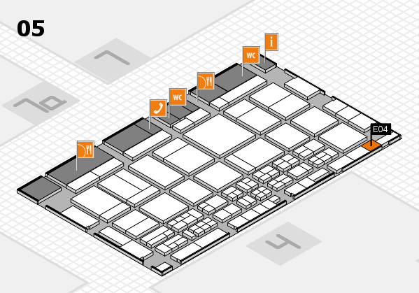 CARAVAN SALON 2017 hall map (Hall 5): stand E04