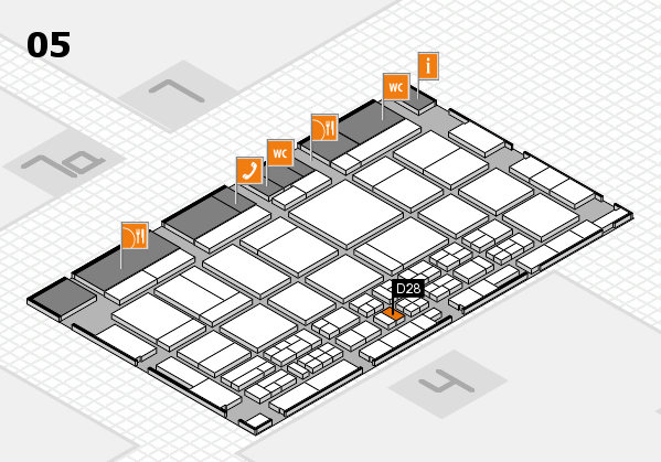 CARAVAN SALON 2017 hall map (Hall 5): stand D28