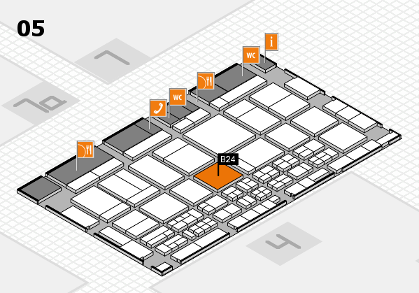 CARAVAN SALON 2017 hall map (Hall 5): stand B24