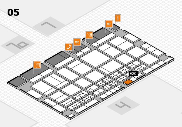 CARAVAN SALON 2017 Hallenplan (Halle 5): Stand E20