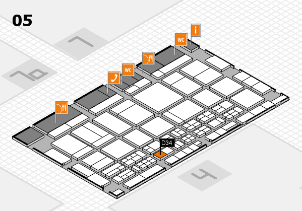 CARAVAN SALON 2017 hall map (Hall 5): stand D34