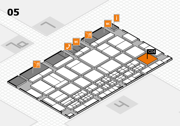 CARAVAN SALON 2017 hall map (Hall 5): stand C04