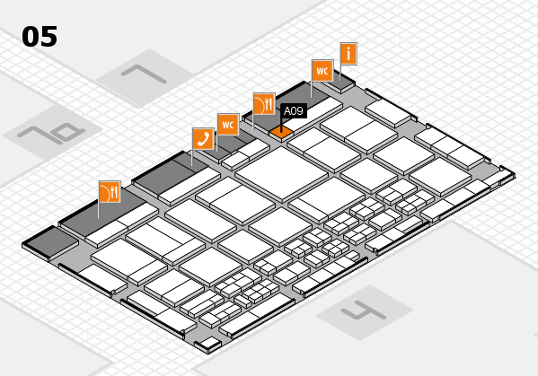 CARAVAN SALON 2017 hall map (Hall 5): stand A09
