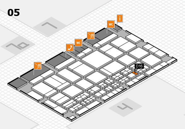 CARAVAN SALON 2017 hall map (Hall 5): stand D16