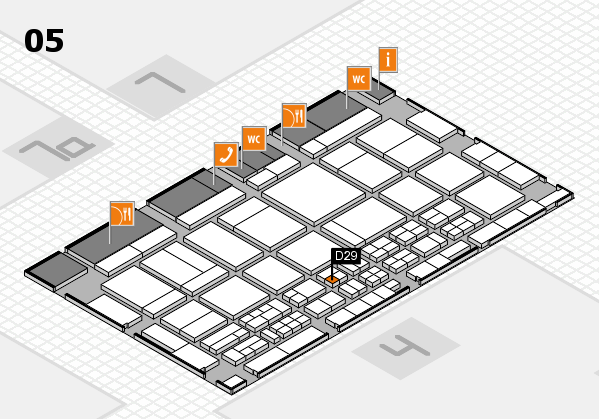 CARAVAN SALON 2017 hall map (Hall 5): stand D29