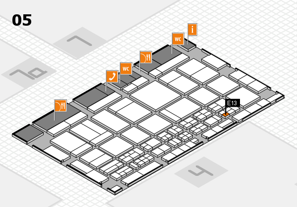 CARAVAN SALON 2017 hall map (Hall 5): stand E13
