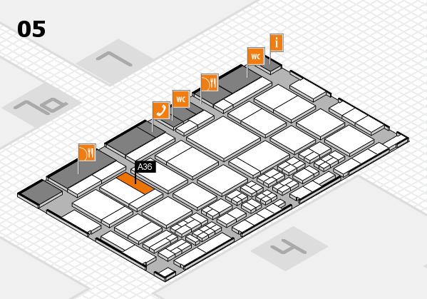 CARAVAN SALON 2017 hall map (Hall 5): stand A36
