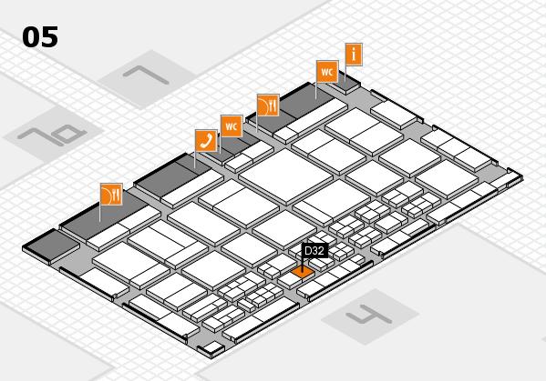 CARAVAN SALON 2017 hall map (Hall 5): stand D32