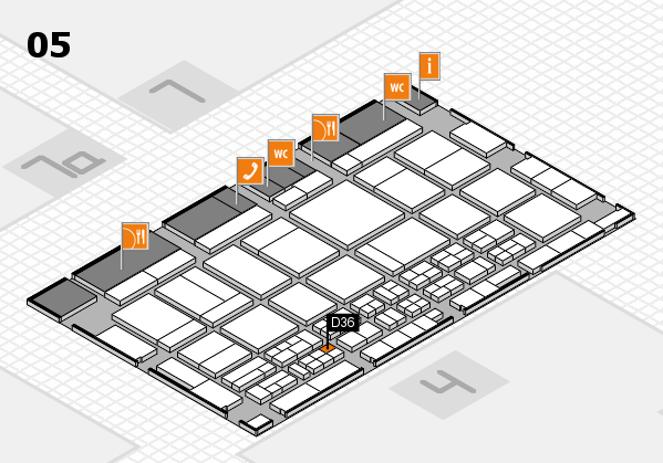 CARAVAN SALON 2017 hall map (Hall 5): stand D36