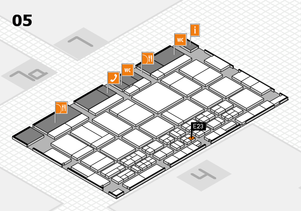 CARAVAN SALON 2017 hall map (Hall 5): stand E23