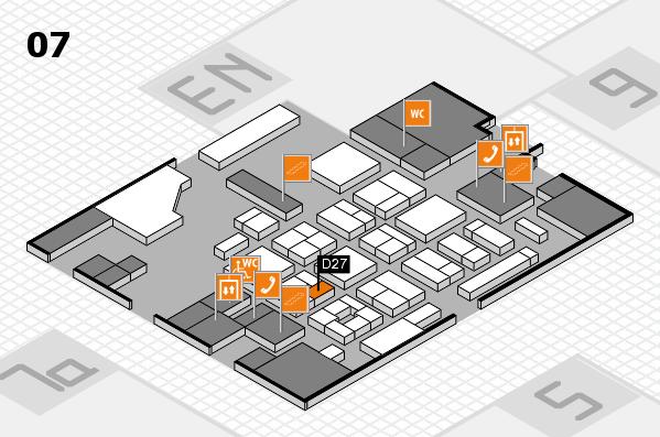 CARAVAN SALON 2017 hall map (Hall 7): stand D27