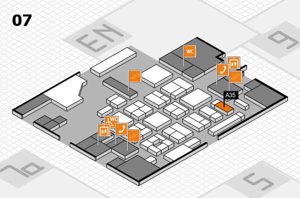 CARAVAN SALON 2017 hall map (Hall 7): stand A35