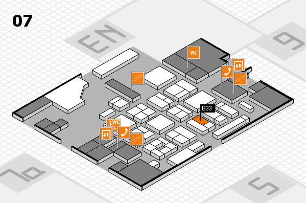 CARAVAN SALON 2017 hall map (Hall 7): stand B33