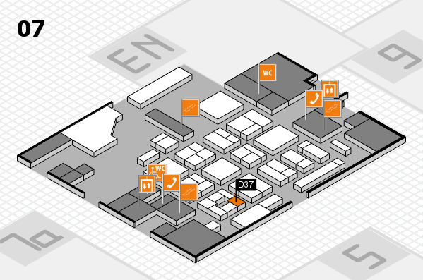 CARAVAN SALON 2017 hall map (Hall 7): stand D37