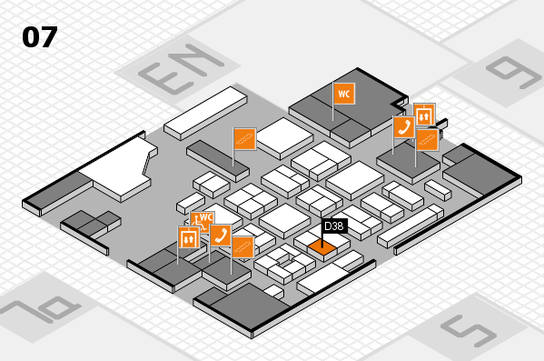 CARAVAN SALON 2017 hall map (Hall 7): stand D38