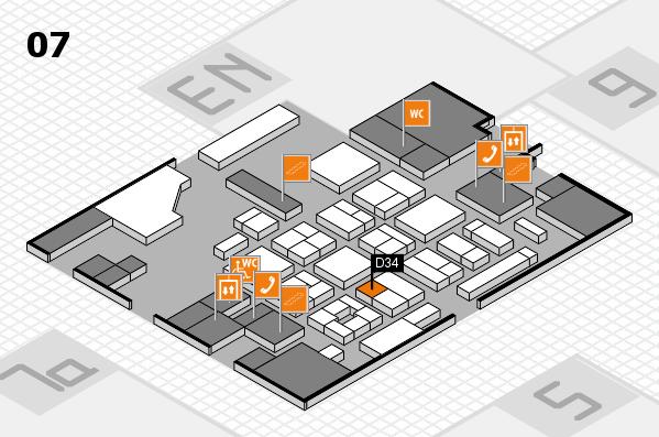 CARAVAN SALON 2017 hall map (Hall 7): stand D34