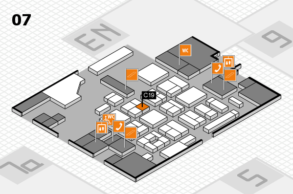CARAVAN SALON 2017 hall map (Hall 7): stand C19