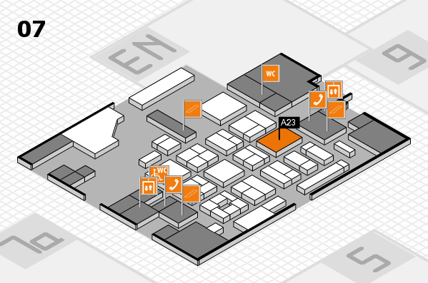 CARAVAN SALON 2017 hall map (Hall 7): stand A23
