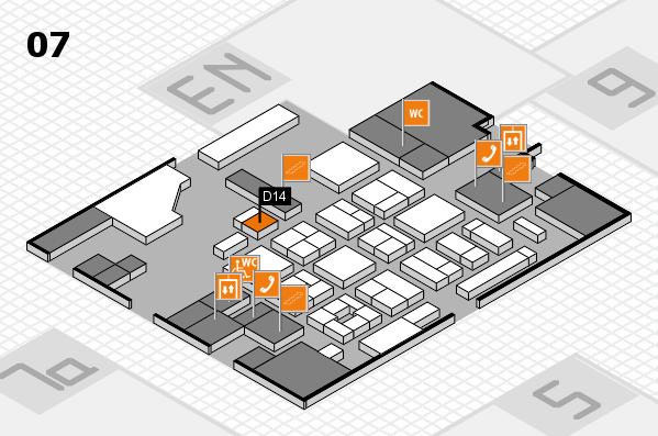 CARAVAN SALON 2017 hall map (Hall 7): stand D14