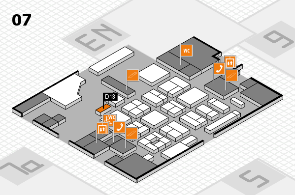 CARAVAN SALON 2017 hall map (Hall 7): stand D13