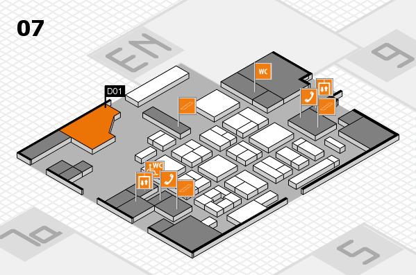 CARAVAN SALON 2017 hall map (Hall 7): stand D01