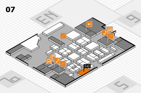 CARAVAN SALON 2017 hall map (Hall 7): stand E40