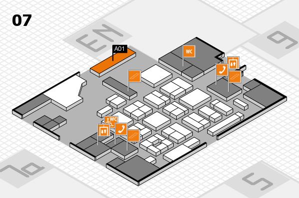 CARAVAN SALON 2017 hall map (Hall 7): stand 0A01