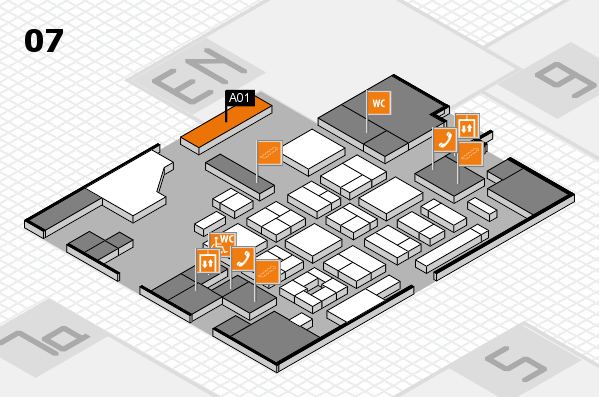 CARAVAN SALON 2017 hall map (Hall 7): stand A01
