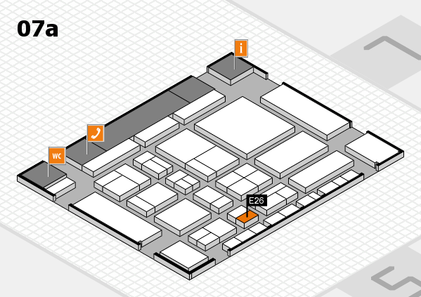 CARAVAN SALON 2017 hall map (Hall 7a): stand E26