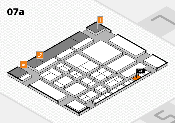 CARAVAN SALON 2017 hall map (Hall 7a): stand C31