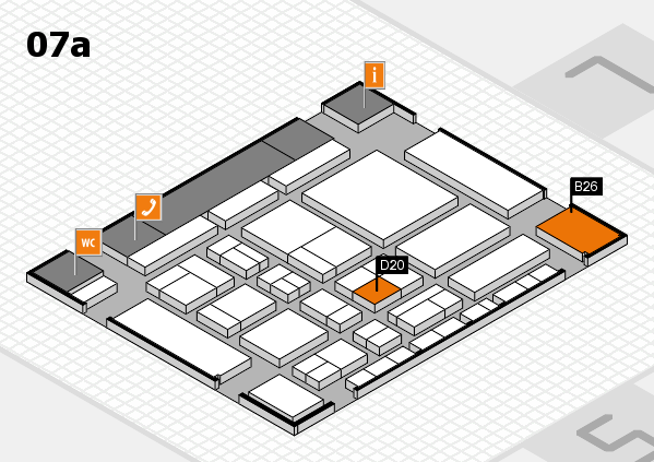 CARAVAN SALON 2017 hall map (Hall 7a): stand B26, stand D20