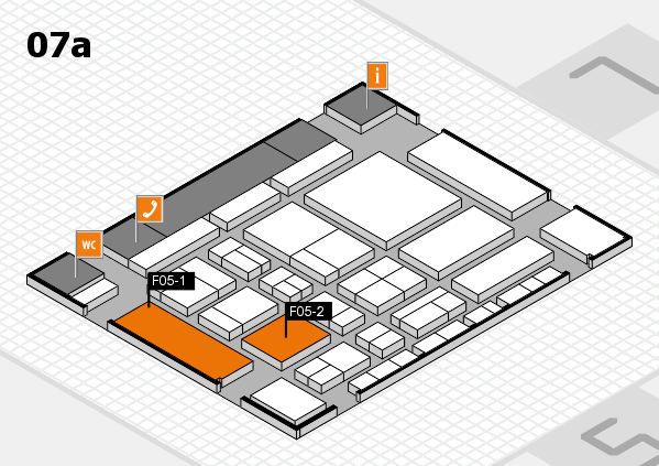 CARAVAN SALON 2017 hall map (Hall 7a): stand F05-1, stand F05-2