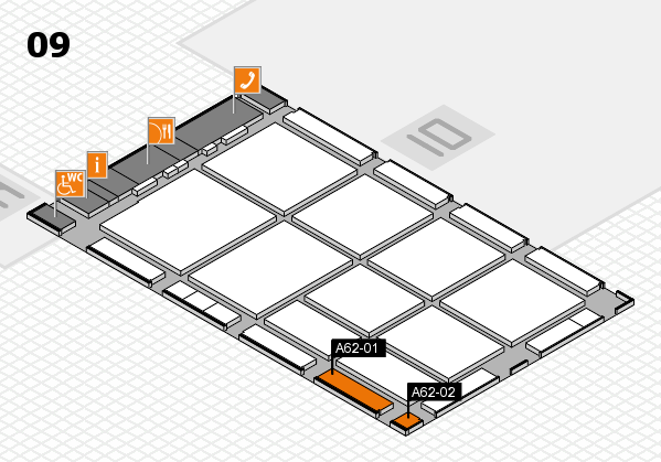 CARAVAN SALON 2017 hall map (Hall 9): stand A62-01, stand A62-02
