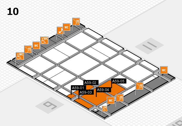 CARAVAN SALON 2017 Hallenplan (Halle 10): Stand A59-01, Stand A59-05