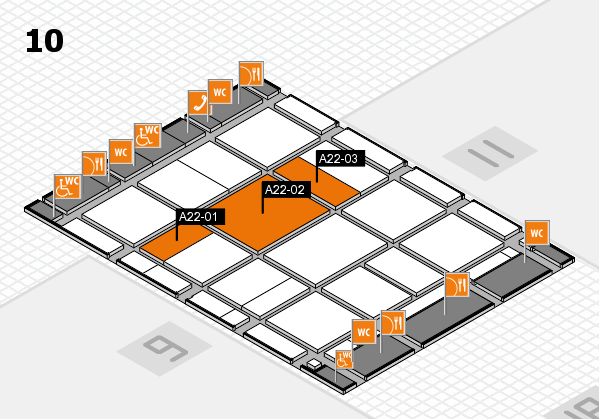 CARAVAN SALON 2017 hall map (Hall 10): stand A22-01, stand A22-03