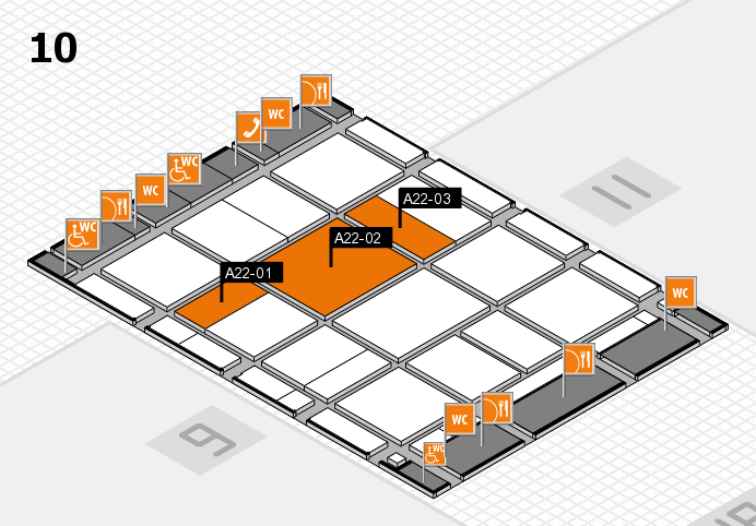 CARAVAN SALON 2017 Hallenplan (Halle 10): Stand A22-01, Stand A22-03