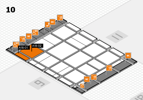 CARAVAN SALON 2017 hall map (Hall 10): stand A18-01, stand A18-02