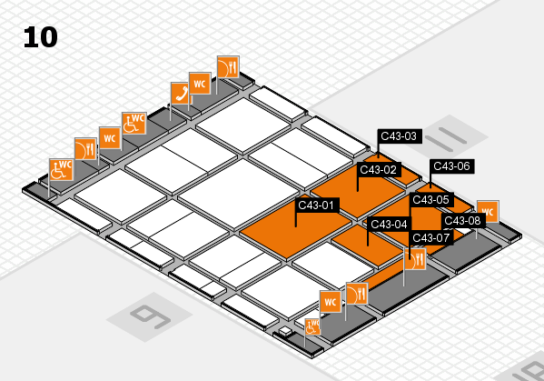 CARAVAN SALON 2017 hall map (Hall 10): stand C43-01, stand C43-08