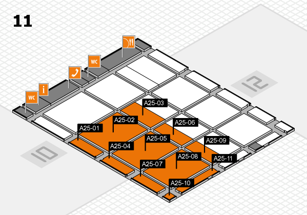 CARAVAN SALON 2017 hall map (Hall 11): stand A25-01, stand A25-11