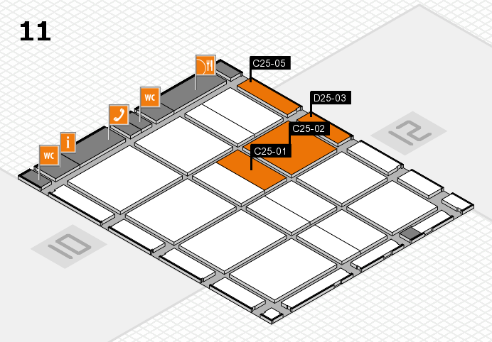 CARAVAN SALON 2017 hall map (Hall 11): stand C25-01, stand D25-03