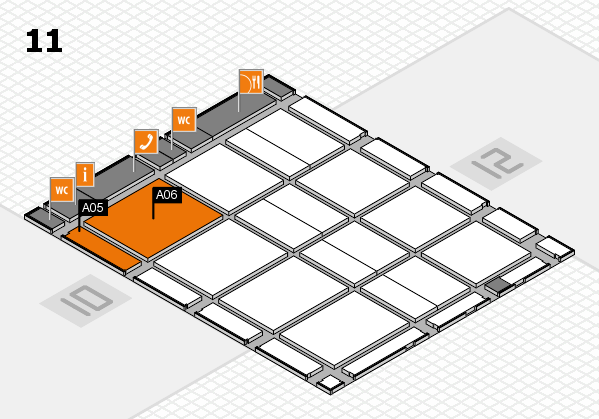 CARAVAN SALON 2017 hall map (Hall 11): stand A05, stand A06