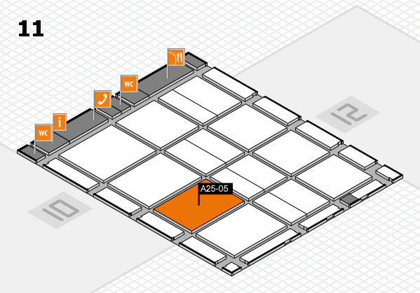 CARAVAN SALON 2017 hall map (Hall 11): stand A25-05