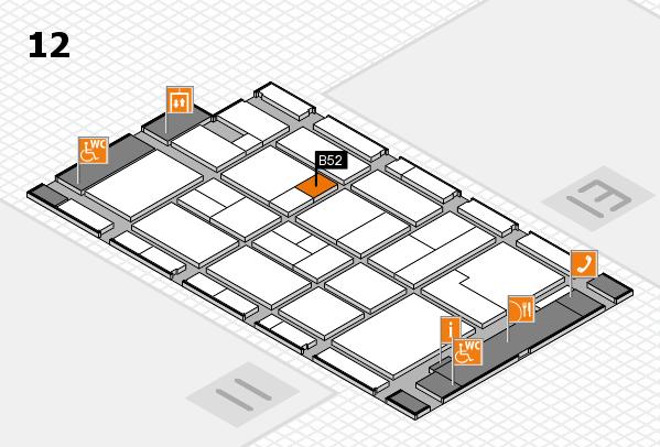 CARAVAN SALON 2017 hall map (Hall 12): stand B52